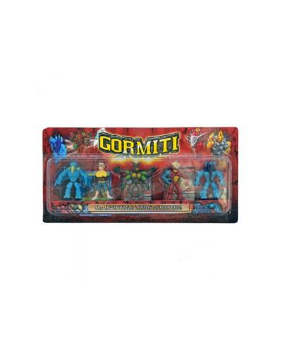 """Герои """"Gormiti"""" 12811 5героев, на планшетке 37*18см"""