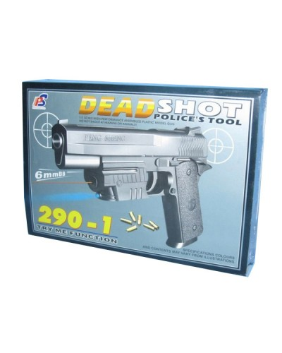 Пистолет 290-1 с пульками, лазер. утяжеленный кор. 24,5*17*5 H61030200