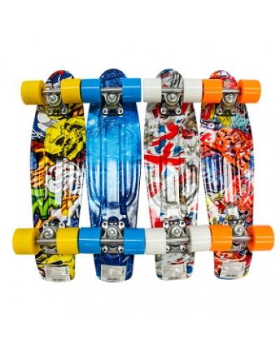 Скейт BT-YSB-0050 пластик.PU колеса 56*15см 1,8кг