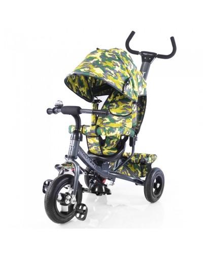 Велосипед трехколесный TILLY Trike T-351-8 ГРАФИТОВЫЙ с большими надувными колесами рус.музыка