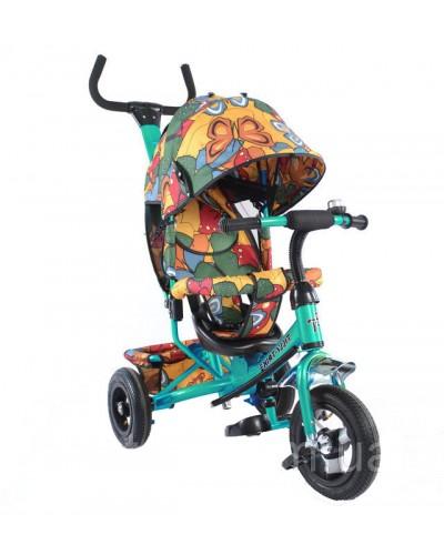 Велосипед трехколесный TILLY Trike T-351-7 БИРЮЗОВЫЙ с надувными колесами