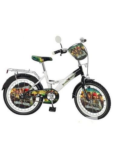 Велосипед детский мульт 20 д. P 2036 P-1 PT, звонок, зеркало, черно-белый, в кор-ке, 137-93-62см