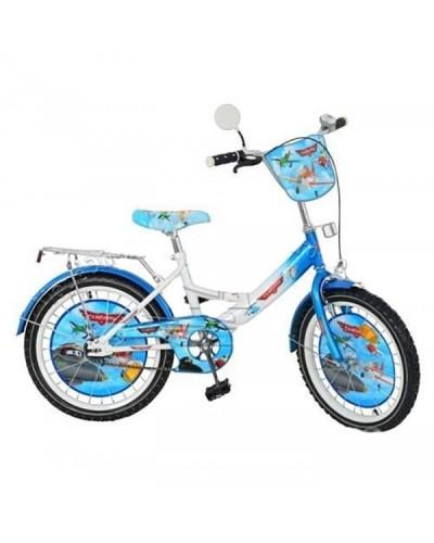 Велосипед детский мульт 20 д. P 2041 AIR PL, зеркало, звонок, бело-голубой, в кор-ке,137-93-62см