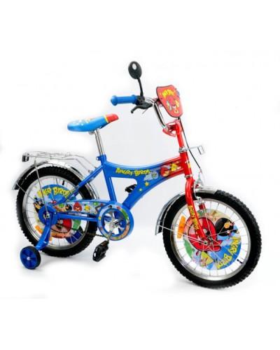 Велосипед 2-х колес 18' 141808  со звонком, зеркалом, с вставками в колесах