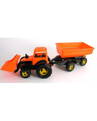 Трактор  с ковшом и прицепом MAXIMUS,