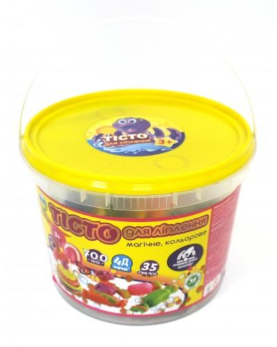 Тесто для лепки 21011 в пластиковом ведре 2,3л, формы