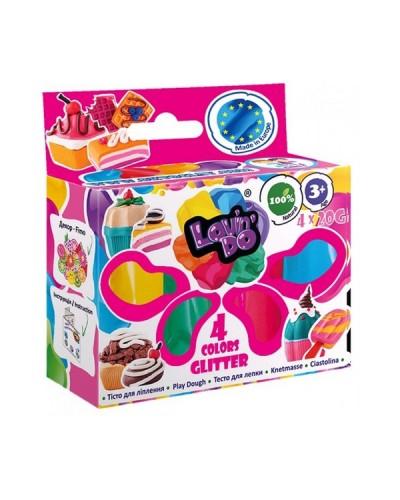 Набір тіста для ліплення ТМ Lovin'Do Асорті 4 кольори з глітером
