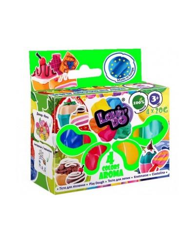 Набір тіста для ліплення ТМ Lovin'Do Асортi 4 кольори Арома
