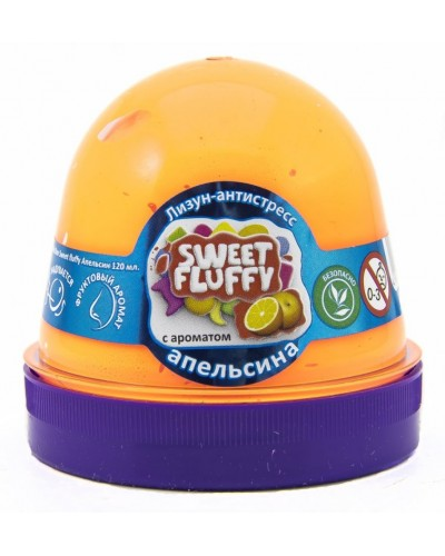 Лизун-антистрес TM Mr.Boo Sweet fluffy Апельсин 120мл.