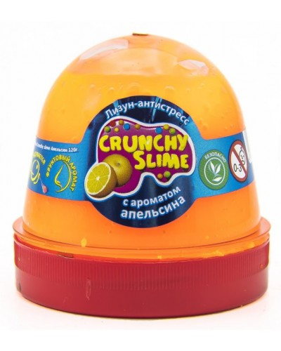 Лизун-антистрес TM Mr.Boo Crunchy slime Апельсин 120г.
