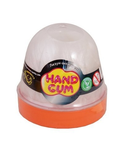 Лизун-антистрес ТМ Mr.Boo Hand gum Біле срібло 120 г.