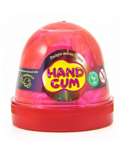 Лизун-антистрес ТМ Mr.Boo Hand gum Червоний 120 г.