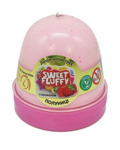 Лизун-антистрес TM Mr.Boo Sweet fluffy Полуниця 120мл. 80110А