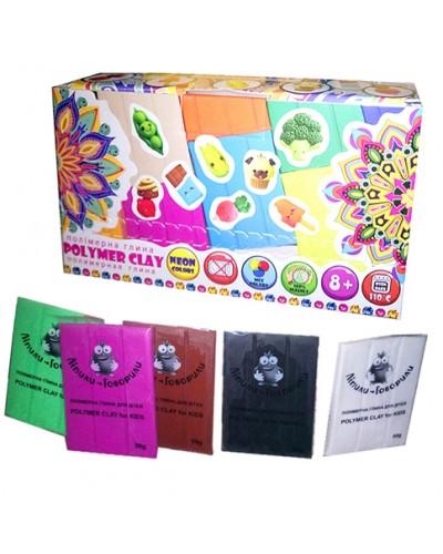 Набір полімерної глини для ліплення ТМ Poly Teens Colormix box РТ00005