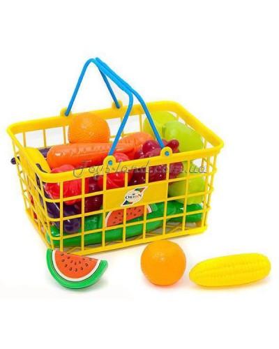 """Корзина М с фруктами и овощами """"Урожай"""", арт. 379 в 3, Орион"""