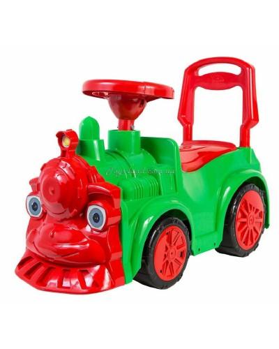 """Автомобиль для прогулок """"Паравозик"""" (зелёный), арт. 761, Орион"""
