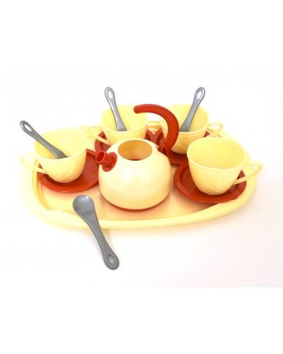 Набор посуды с подносом (14 пред./ цвет в ассортименте), арт. 955 в 3, Орион