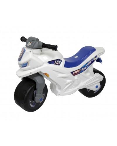 Мотоцикл 2-х колёсный с сигналом (белый), арт. 501в.3 БЕЛ, Орион