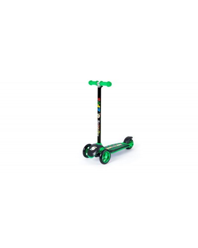 Самокат Зеленый (рулевая колонка большая) 555х290х755 мм