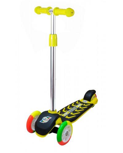 Самокат Лимонный (цветные колеса) 555х290х755 мм