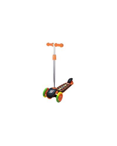 Самокат Оранжевый (цветные колеса) 555х290х755 мм