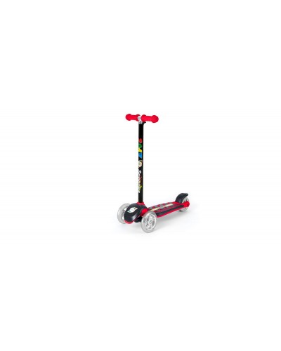 Самокат Красный (сияющие колеса, рулевая колонка большая) 555х290х755 мм
