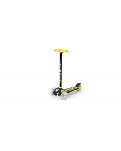 Самокат Лимонный (сияющие колеса, рулевая колонка большая) 555х290х755 мм