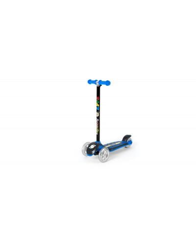 Самокат Синий (сияющие колеса, рулевая колонка большая) 555х290х755 мм