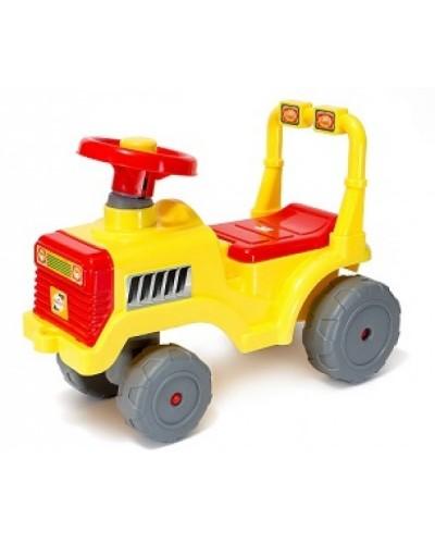 Машинка для катання БЕБІ ТРАКТОР лимон
