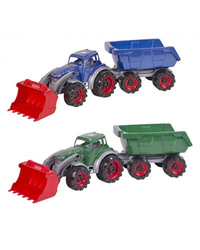 Трактор Texas навантажувач з причепом 640х180х170 мм