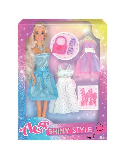 Кукла Ася 'Блестящий стиль'; 28 см; блондинка; вариант 1