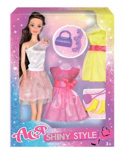 Кукла Ася 'Блестящий стиль'; 28 см; брюнетка; вариант 2