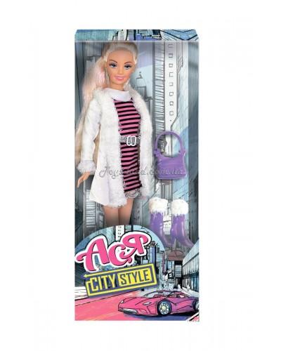 Кукла Ася 'Городской стиль'; 28 см; блондинка; вариант 2