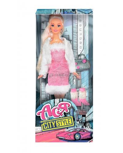 Кукла Ася 'Городской стиль'; 28 см; блондинка; вариант 3
