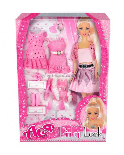 Кукла Ася 'Розовый стиль'; 28 см; блондинка; вариант 1