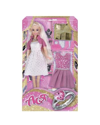 Набор с куклой Асей 'Сверкай как бриллиант'; 28 см; блондинка; вариант 1