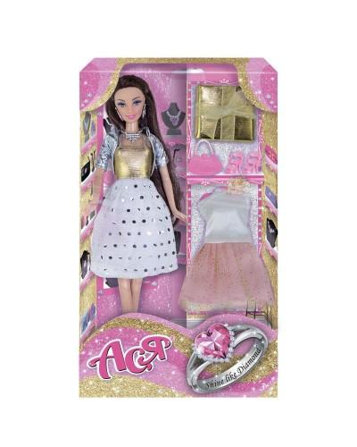 Набор с куклой Асей 'Сверкай как бриллиант'; 28 см; брюнетка; вариант 2
