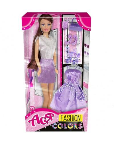Кукла Ася 'Модные цвета'; 28 см; брюнетка; вариант 4