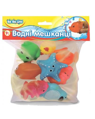 Игрушки-брызгалки для ванной 'Водные жители'; 8 шт; 9М+