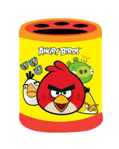 """Стакан для ручок Centrum """"Angry Birds"""" 9*8см жовт. з прорезин. покриттям 84786"""