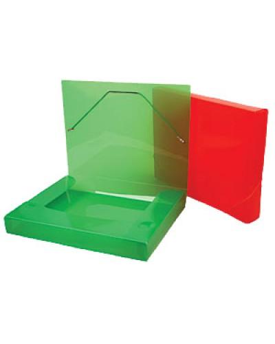 Папка  1 відділ.пласт. А4 Centrum на рез. 4см прозор.кольор.в асорт. 80020