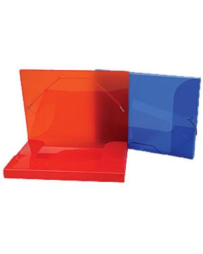 Папка  1 відділ.пласт. А4 Centrum на рез.2,5см прозор.кольор.в асорт. 80019