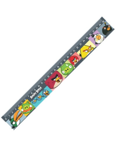 """Лінійка пласт. 30см Centrum """"Angry Birds"""" 84497"""
