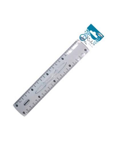 Лінійка пластик. 20см Centrum 85584 з тримачем