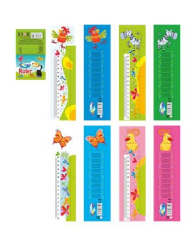 Лінійка-закладка  Centrum Giraffe 3D 15х4см для книг, пластик., кольор.асорті 86854