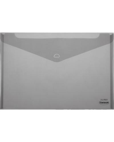 Папка-конверт пласт. А5 на клапані Сentrum 0,16мм прозора, асорті 86670