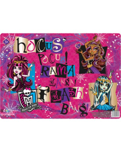 "Покриття на стіл Centrum пласт. з принтом ""Monster High"" 29,7х42см 85143"
