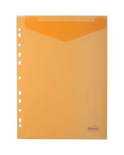 Папка-конверт пласт. А4 Centrum 0,18мм з перф., клапаном, вертик.,80630 кол.асорті