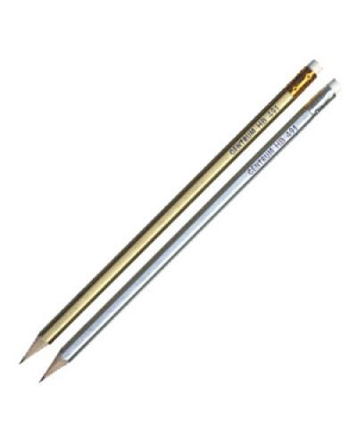 Олівець  Centrum НВ 80491/80491N золот./срібн. з гумкою 10шт уп, продажа уп, цена шт