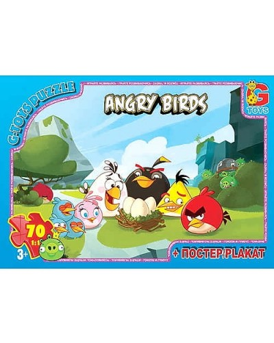 """Пазлы """"Angry Birds"""", 70 ел"""